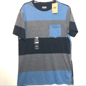 Levi's Men's T-shirt Pocket M Striped NWT